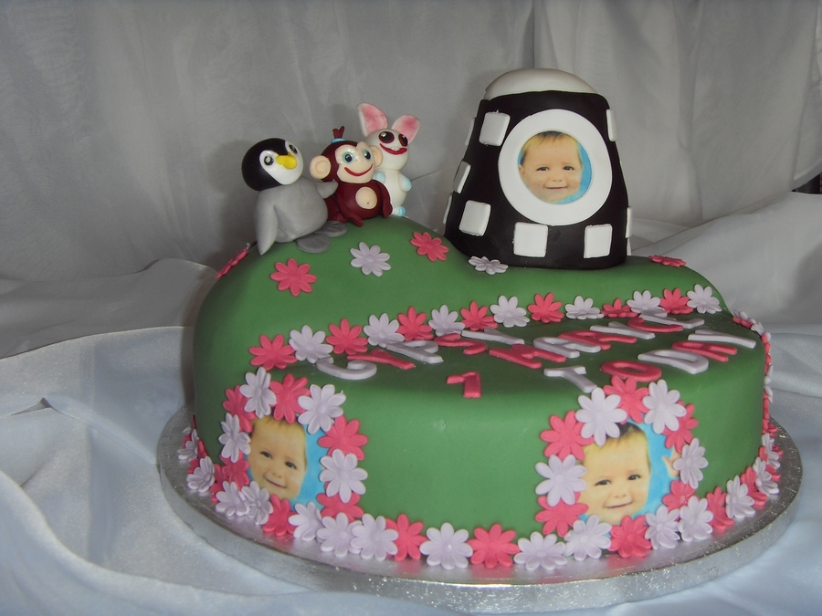 Cbeebies Baby Jake Friends 1St Birthday Cake CakeCentralcom