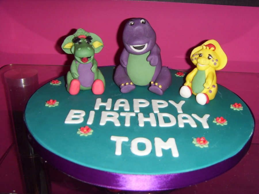 Barney Cake Topper Tutorial