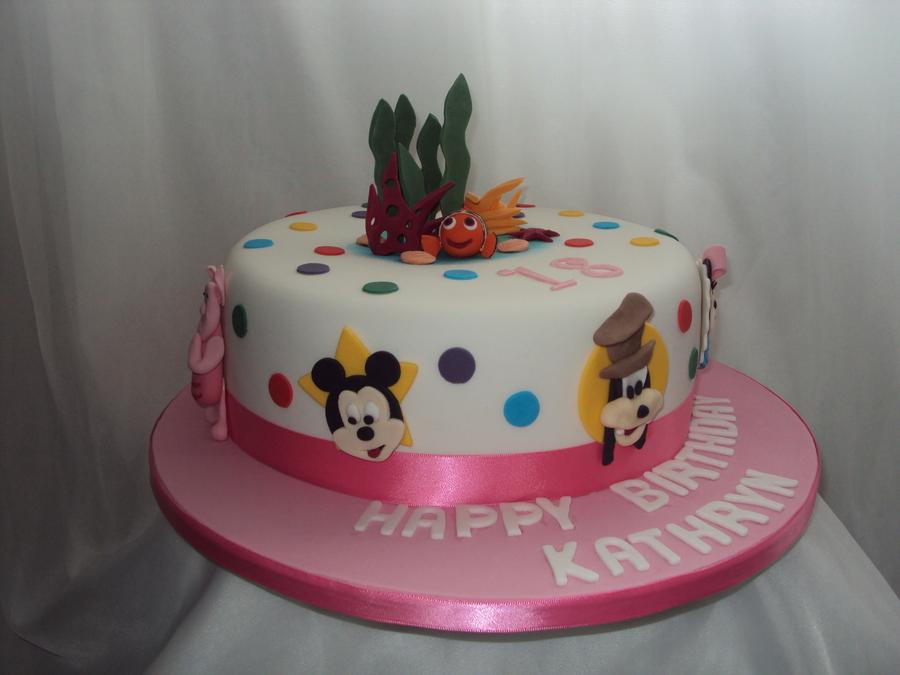 Disneydisney Pixar Characters 18Th Birthday Cake CakeCentralcom