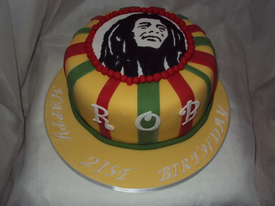Bob Marley Image 21st Birthday Cake Cakecentral