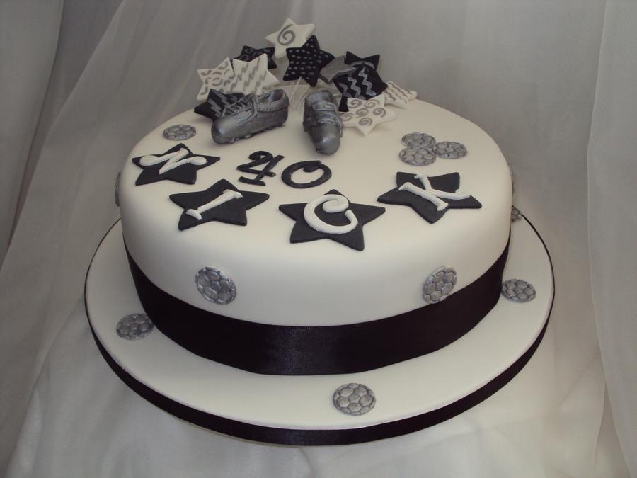 Th Birthday Cake Pink And Black