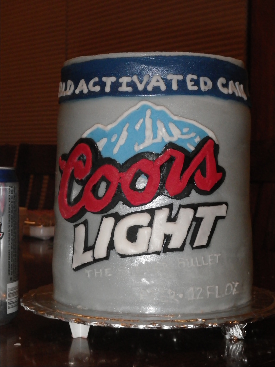 Coors Light Can on Cake Central