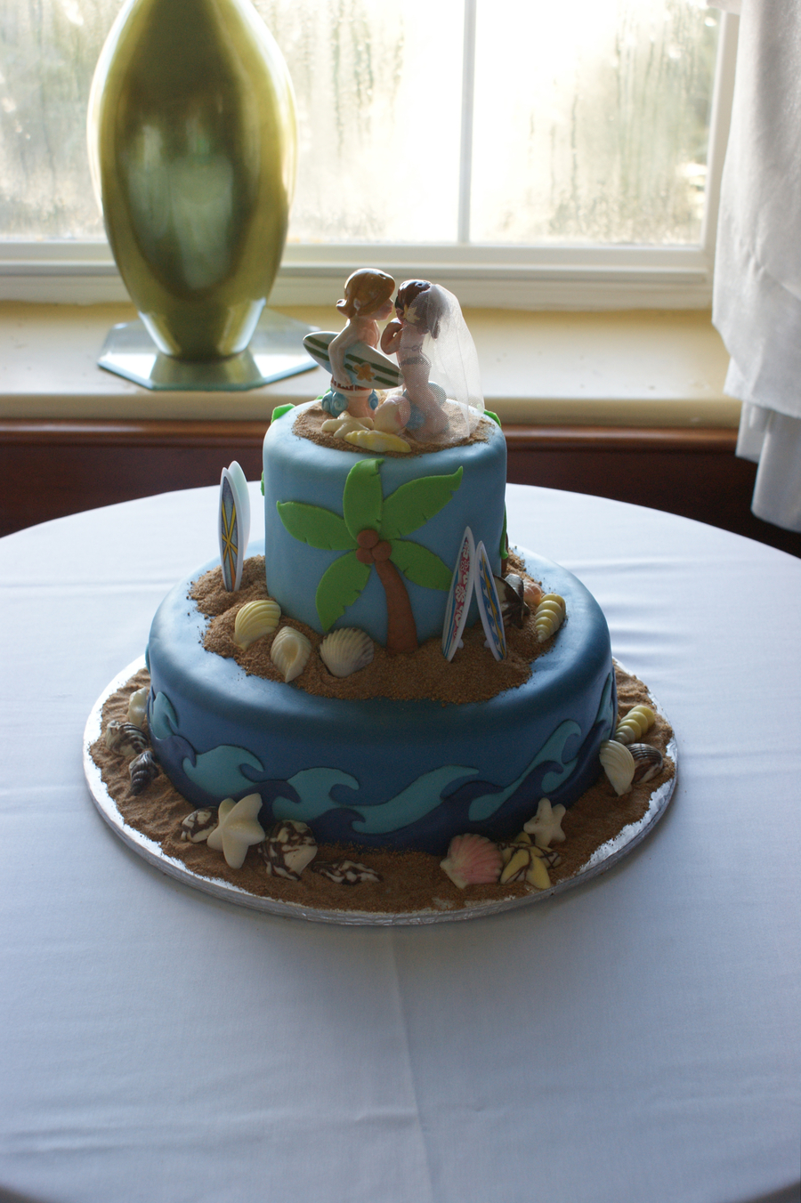 Beach Wedding on Cake Central