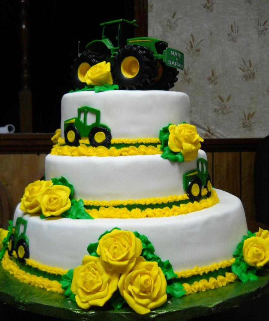 John Deere Wedding Cake - CakeCentral.com