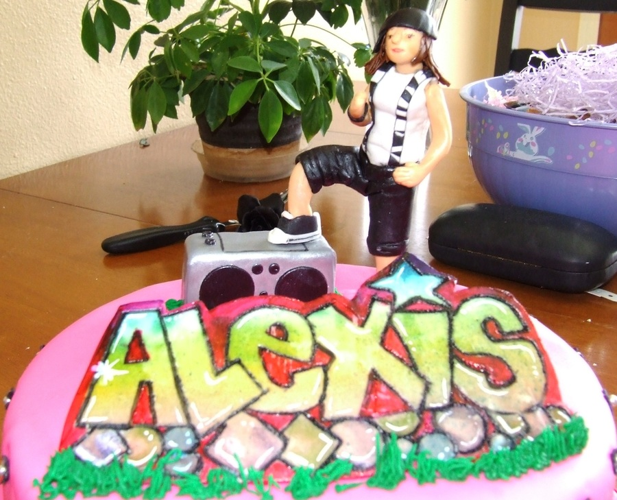Hip Hop Cake With Graffiti Name on Cake Central