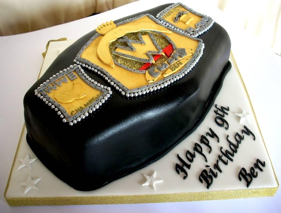 Wwe Wrestling Belt Birthday Cake