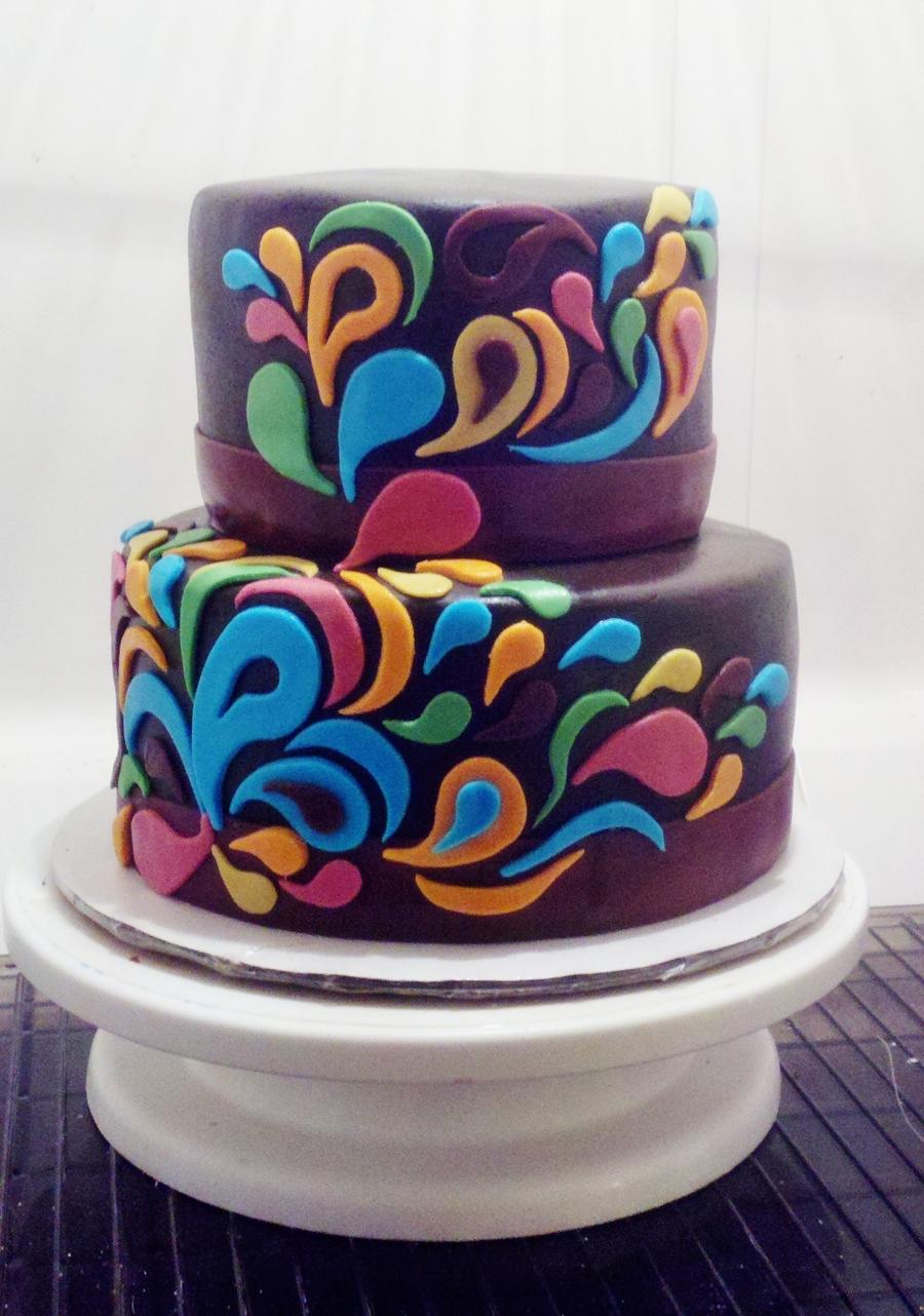 Paisley Cake, Round 2 - CakeCentral.com