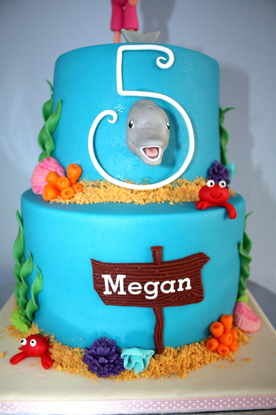 Dolphin Birthday Cake For My Little Girl With Sweet Table