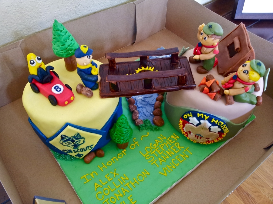 Cake Decorating For Cub Scouts : Cub Scout Crossing Over Ceremony Cake - CakeCentral.com