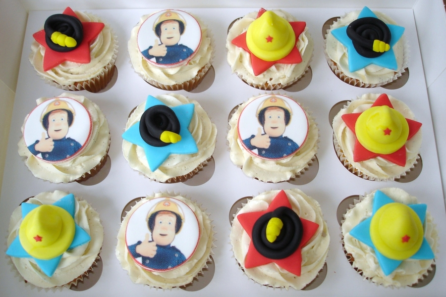 Fireman Sam Cupcakes  on Cake Central