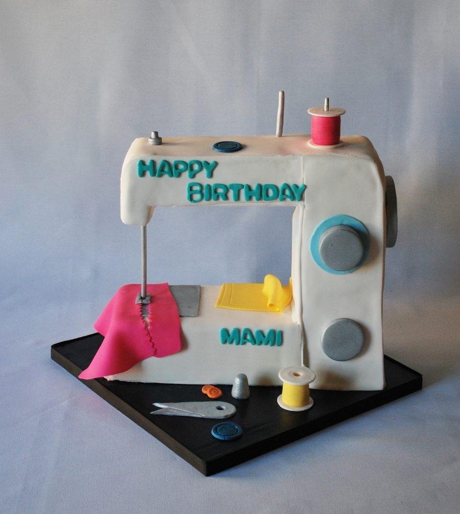 Sewing Machine Cake on Cake Central