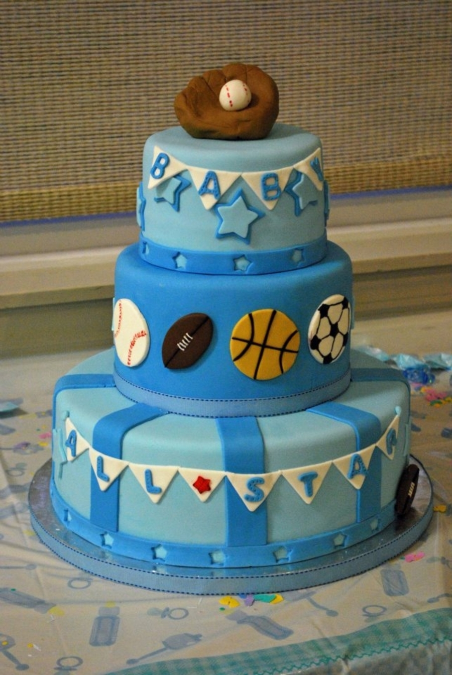 All Star Baby Shower Cake CakeCentralcom
