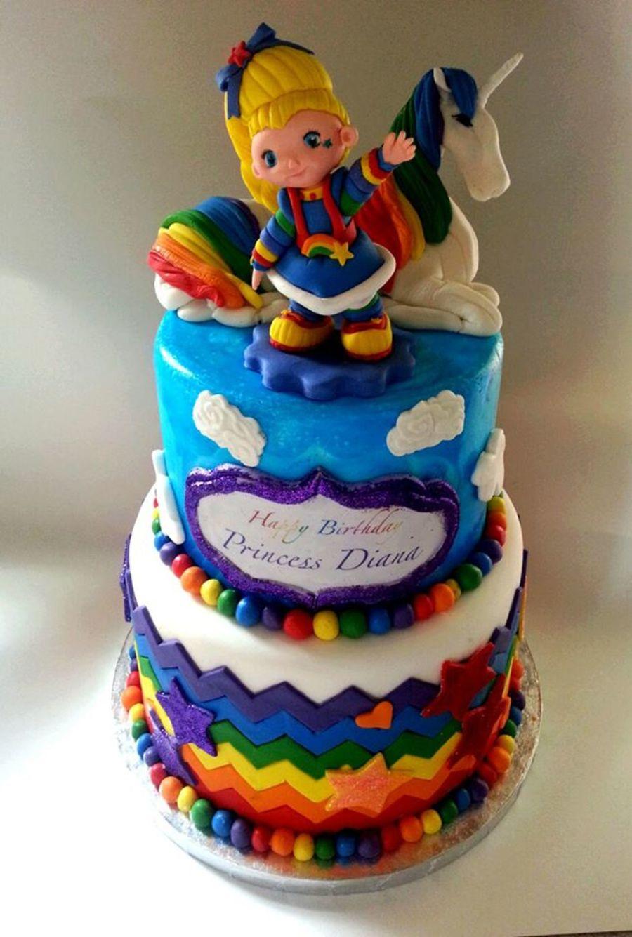 Rainbow Brite Cake Images