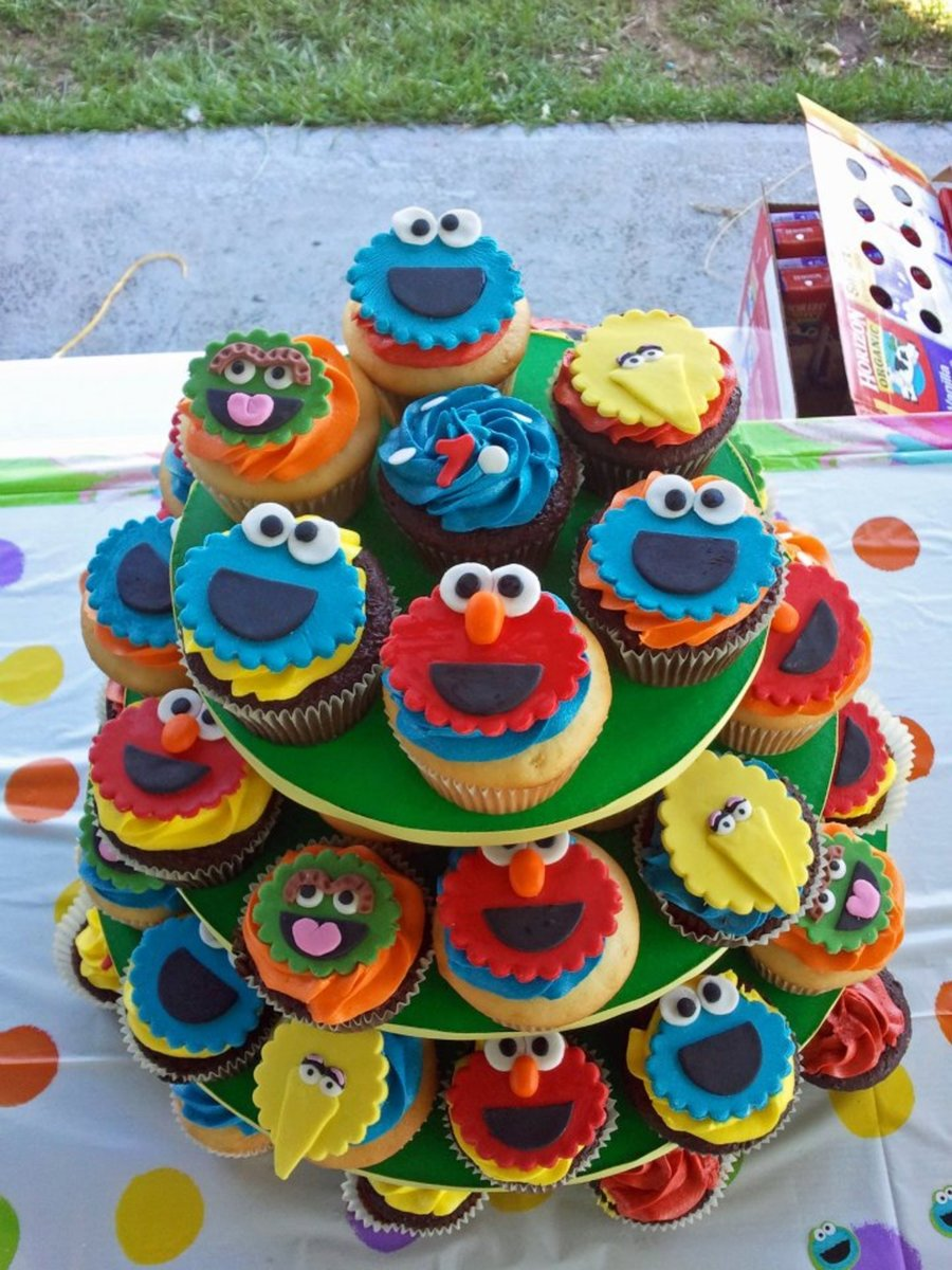 Sesame Street Theme Cupcakes on Cake Central