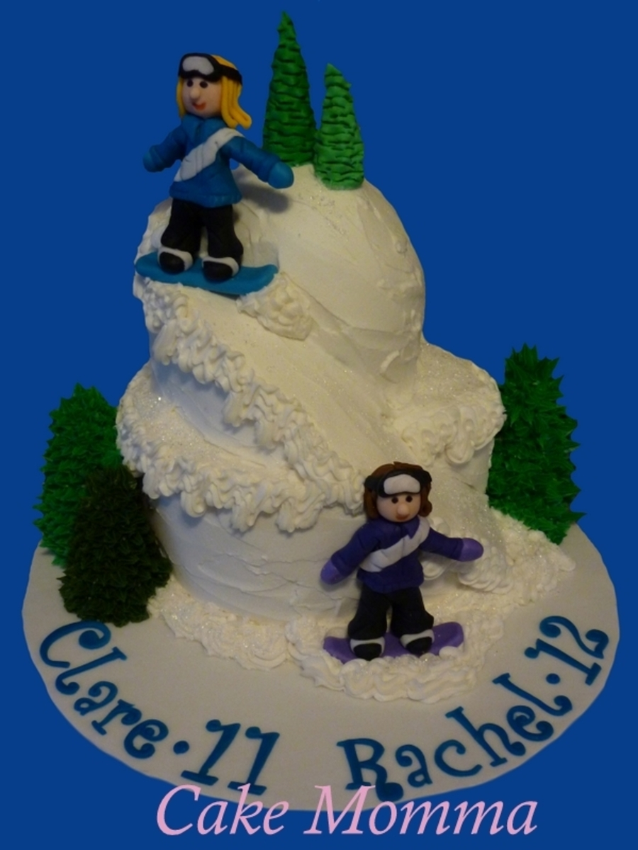 Snow Boarding on Cake Central