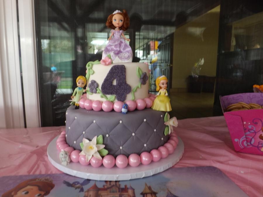 My Niece Niyas Sofia The First Birthday Cake Chocolate Cake With