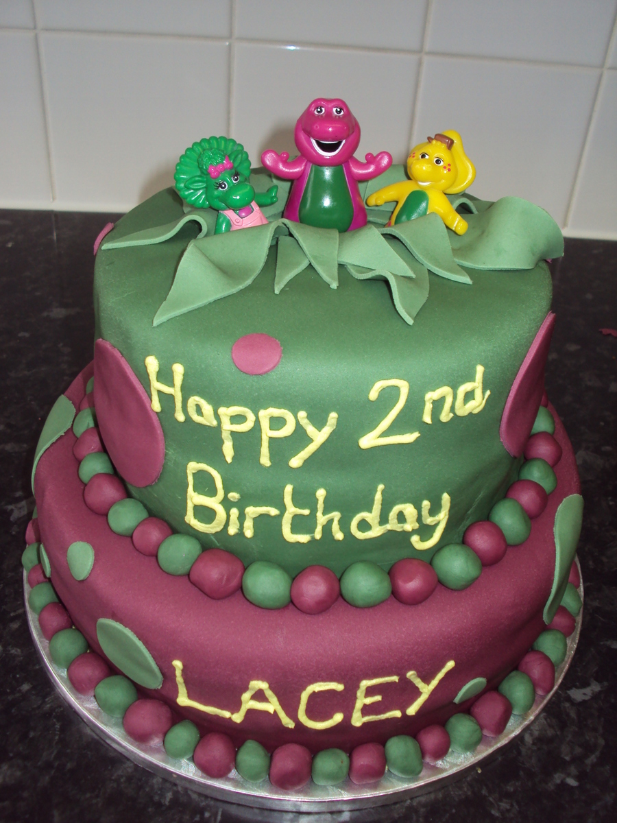 Barney Friends 2Nd Birthday Cake On Central