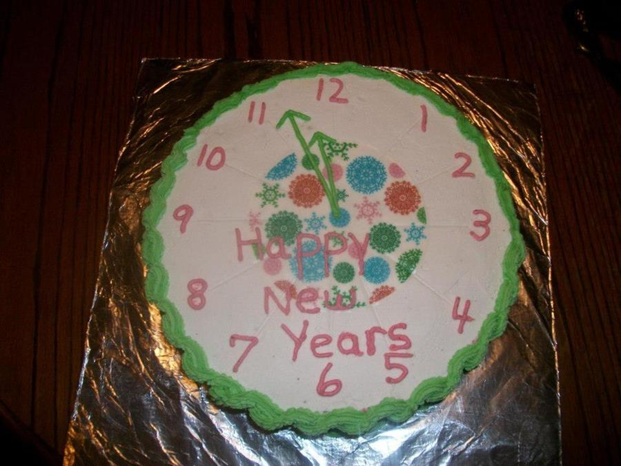 New Years Clock Cake on Cake Central
