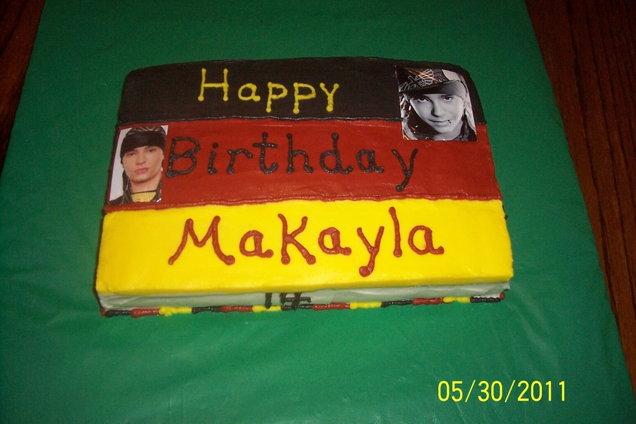 German Flag/tokio Hotel on Cake Central