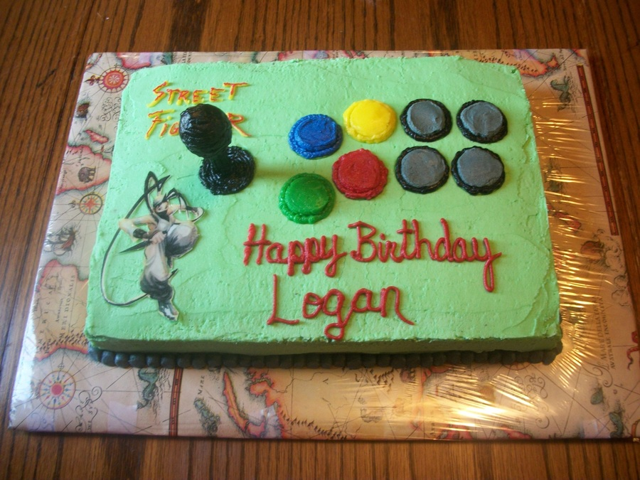 Street Fighter Game Pad Cake Cakecentral