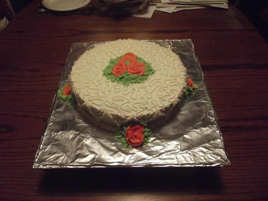 Cornelli Lace And Roses on Cake Central
