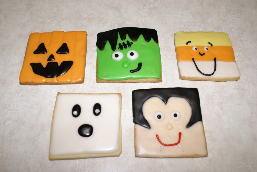 Halloween Cookies, Pumpkin, Frank, Candy Corn, Ghost, Dracula  on Cake Central