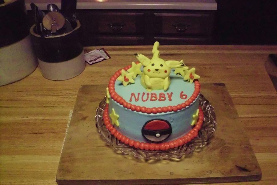Phenomenal Pikachu Pokemon Birthday Cake Cakecentral Com Personalised Birthday Cards Bromeletsinfo