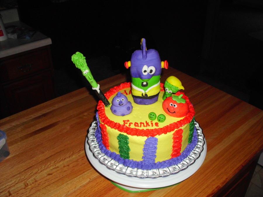 Larry Boy Veggie Tale Birthday Cake CakeCentralcom