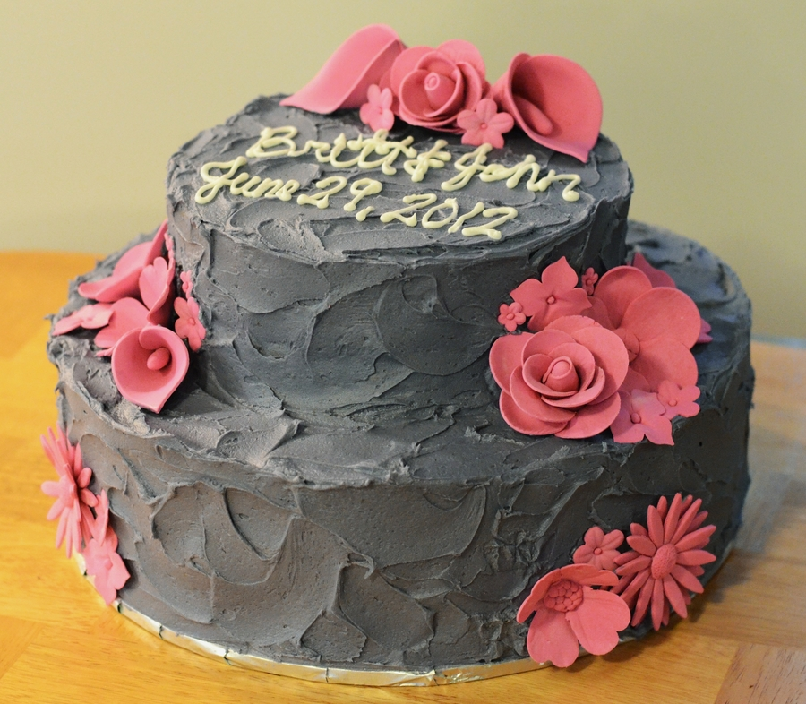 Rough Iced Pink Flower on Cake Central