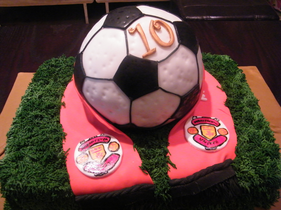 Soccer Ball With Team Scarf on Cake Central