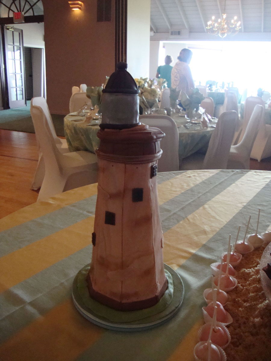 3D Lighthouse Grooms Cake on Cake Central