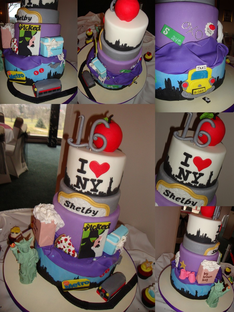I Love New York Cake All Hand Modeled Decorations on Cake Central