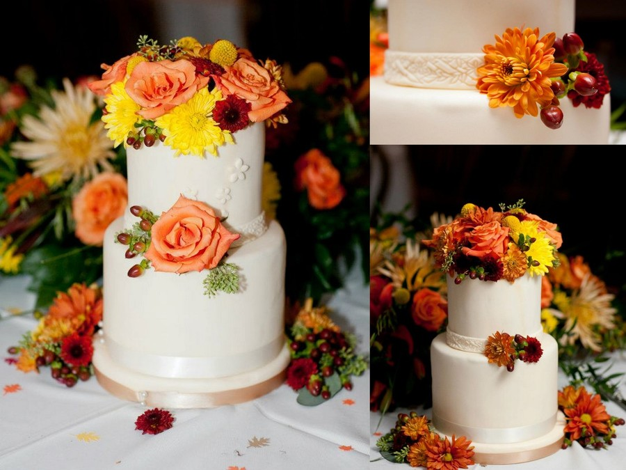 Two Tiered Wedding Cake on Cake Central