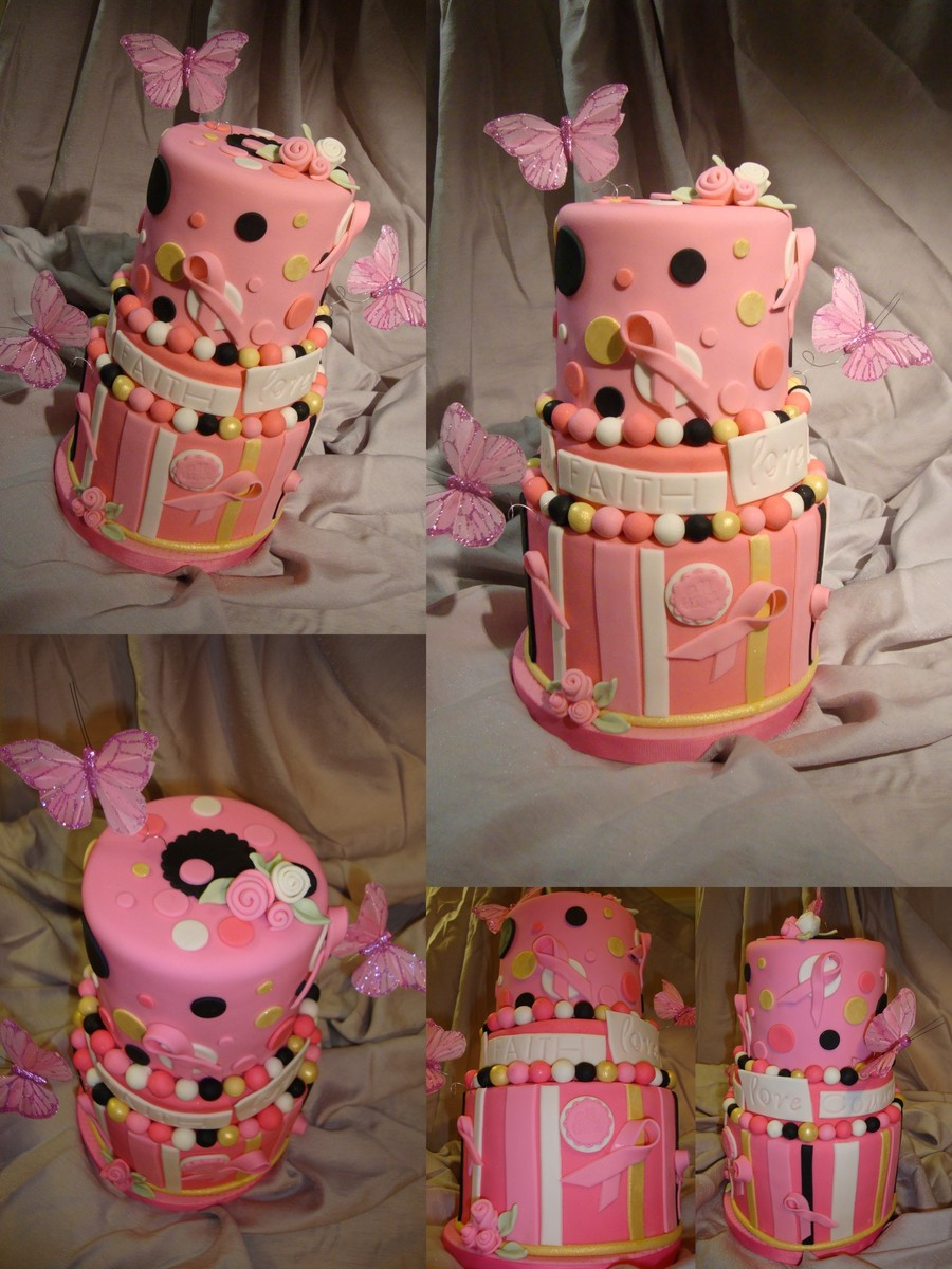 Pleasing Breast Cancer Awareness Birthday Cake Cakecentral Com Personalised Birthday Cards Beptaeletsinfo