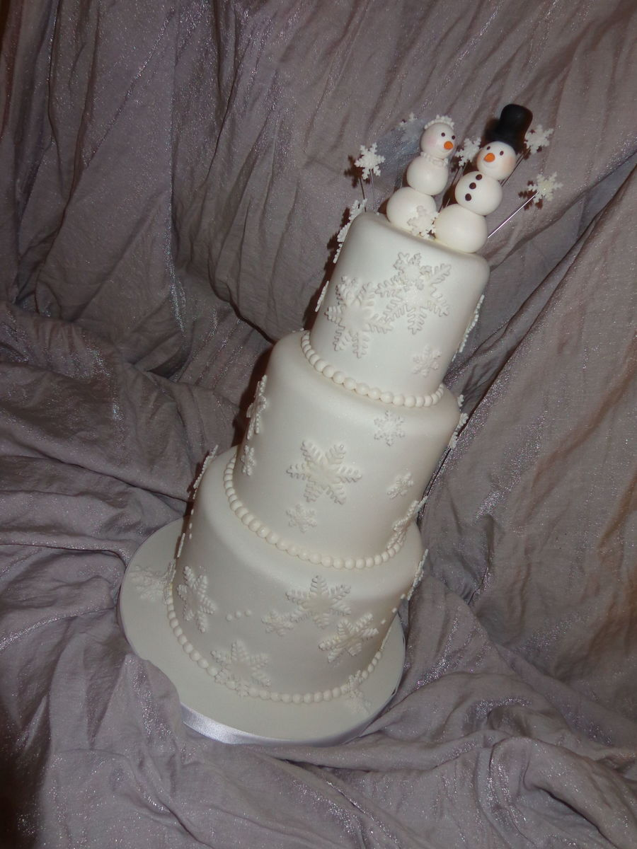 Snowman Wedding on Cake Central