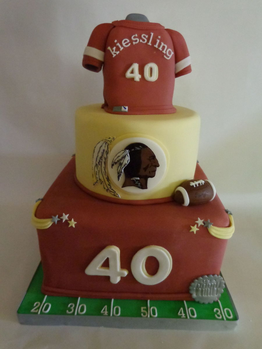 Pictures Of Redskins Birthday Cakes