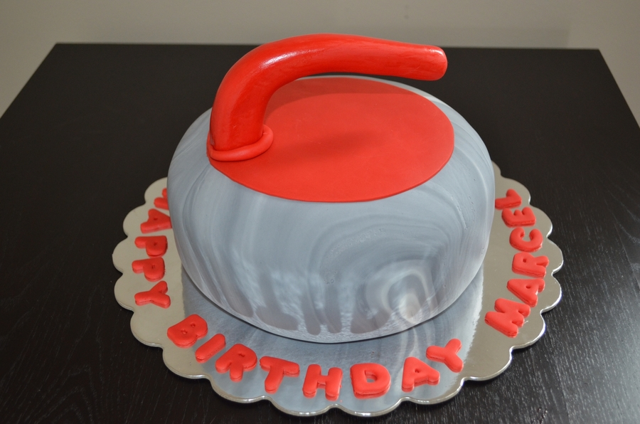 Curling Rock  on Cake Central
