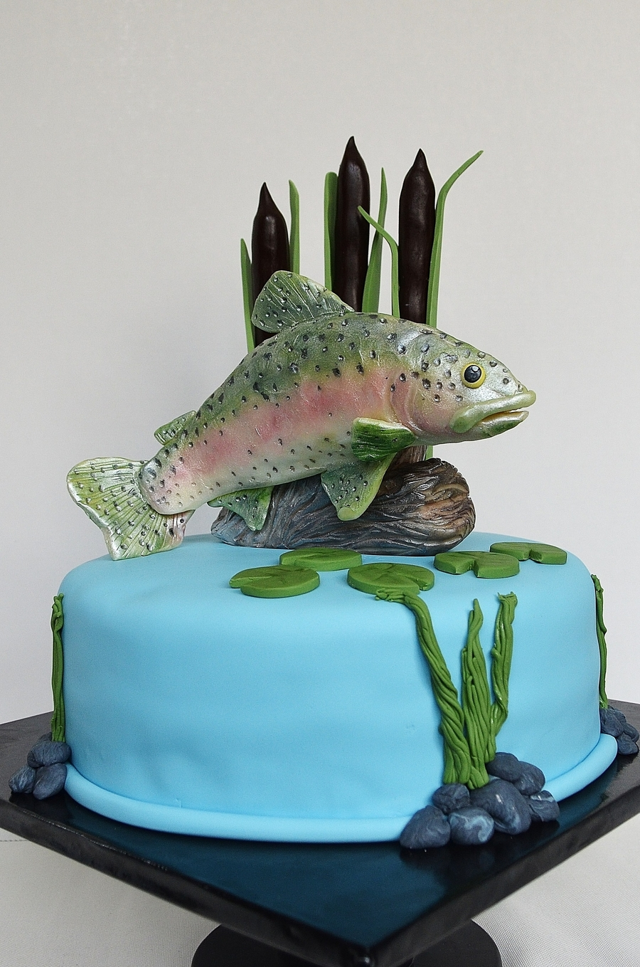 Jumping Rainbow Trout on Cake Central