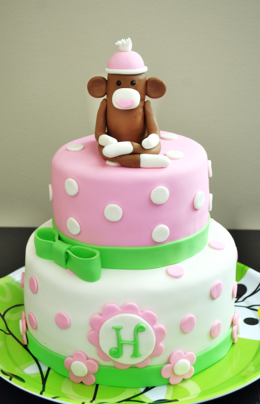 Girly Sock Monkey on Cake Central
