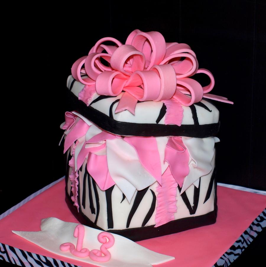 Zebra Gift Box Cakecentral