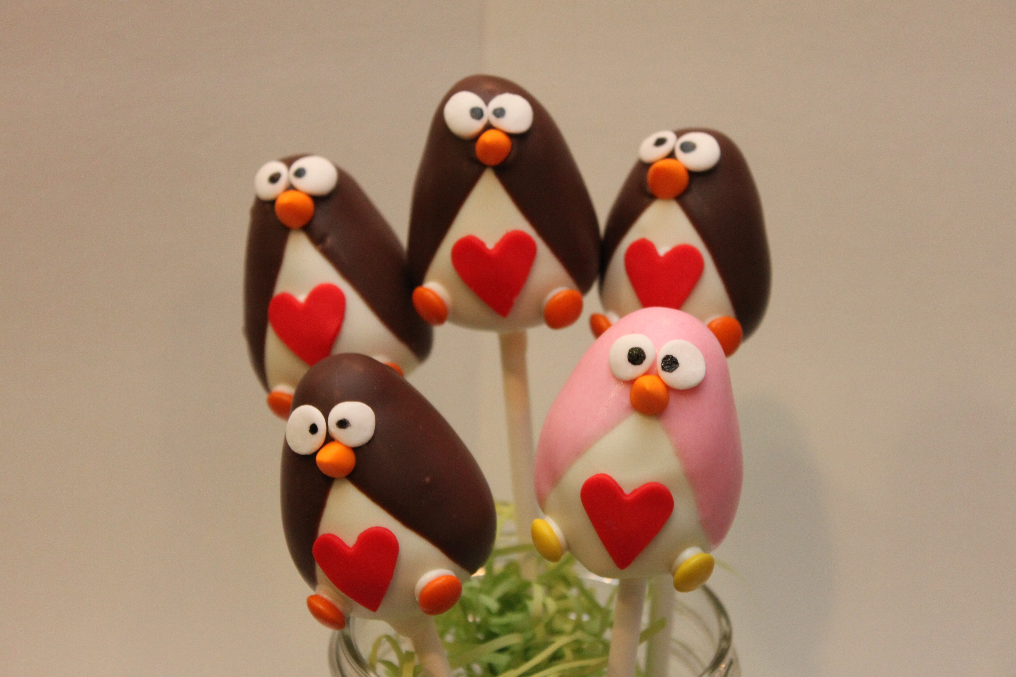 Valentines Day Penguins on Cake Central