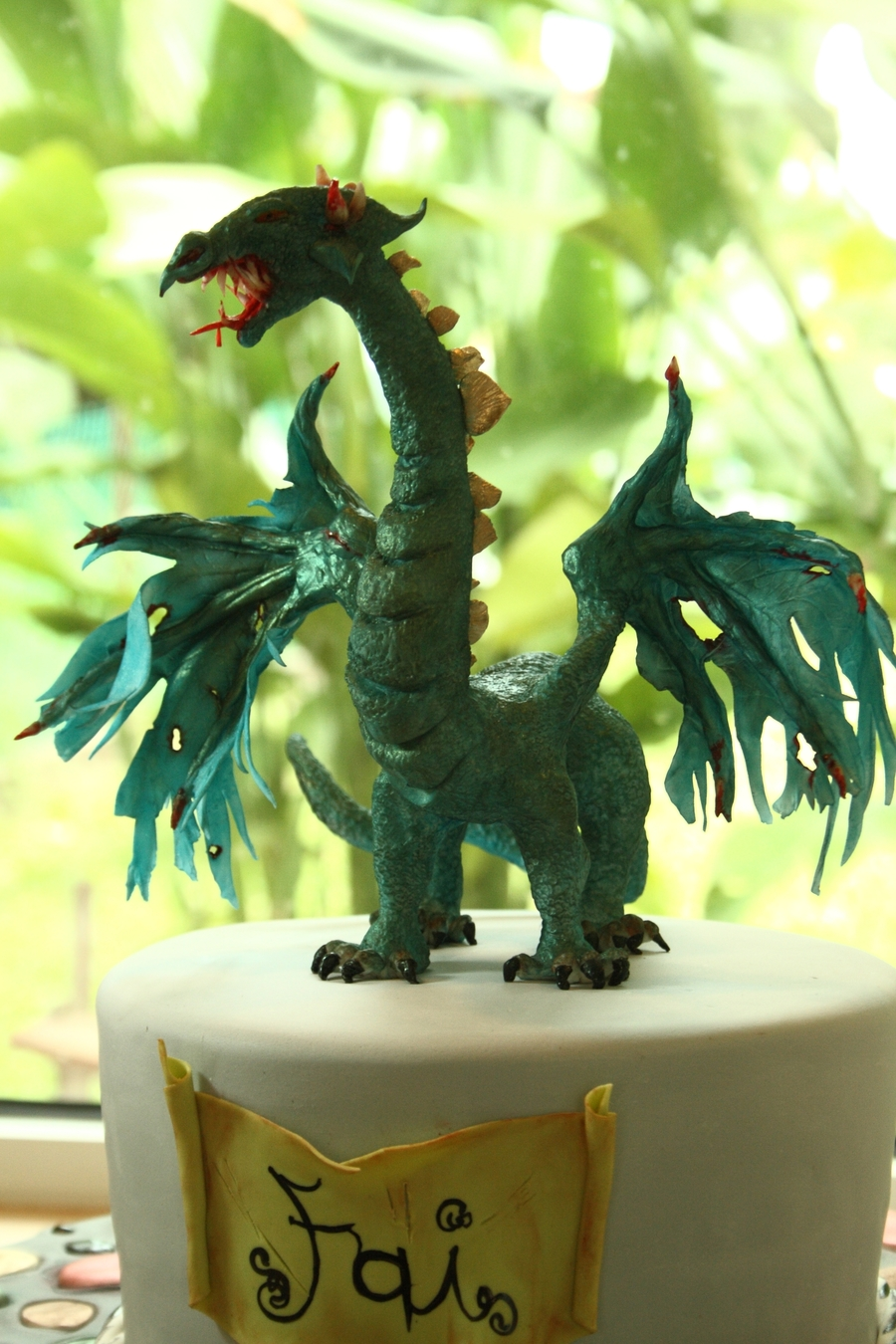 Gumpaste Dragon on Cake Central