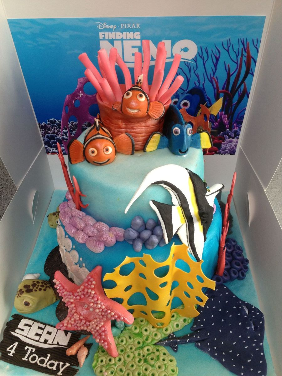 Surprising Finding Nemo Childrens Birthday Cake Cakecentral Com Personalised Birthday Cards Cominlily Jamesorg