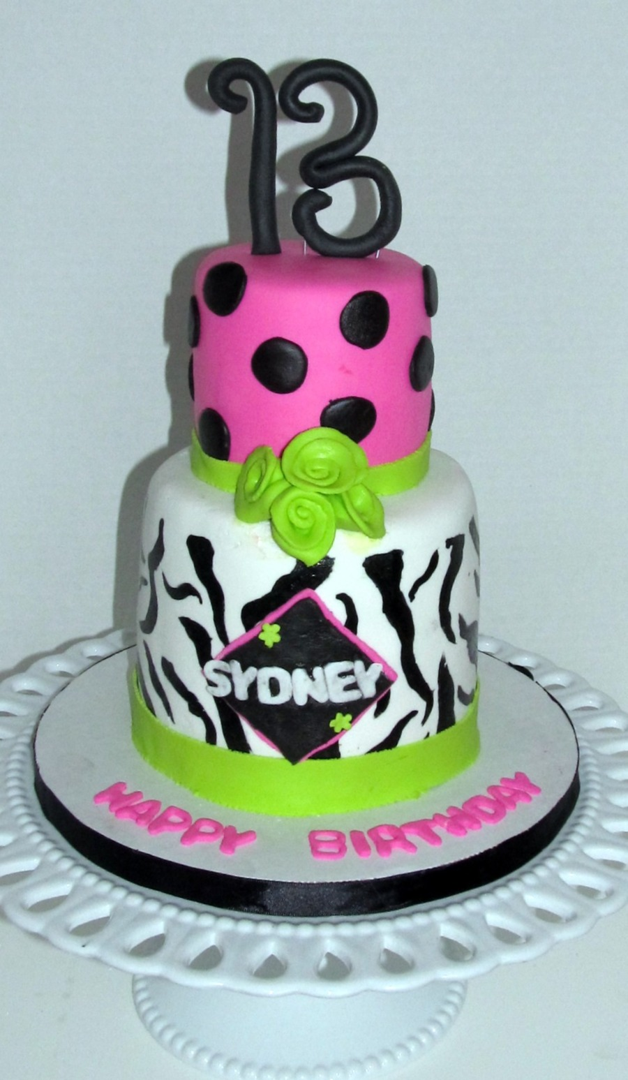 pink and lime green wedding cakes pink lime green and zebra cakecentral 18551