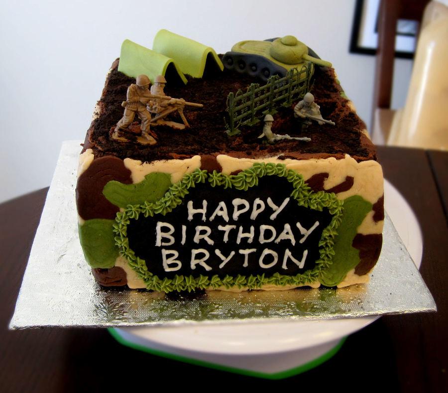 Wondrous Army Birthday Cake Cakecentral Com Funny Birthday Cards Online Alyptdamsfinfo