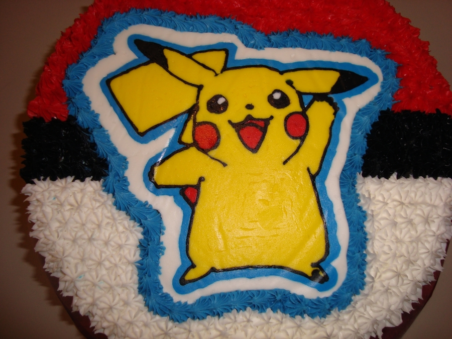 Pokemon Birthday Cake ... Round Birthday Sugar Cookies
