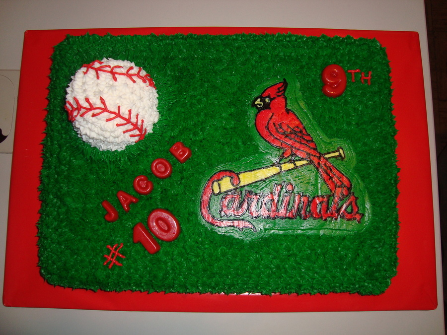 St. Louis Cardinals Baseball Cake on Cake Central