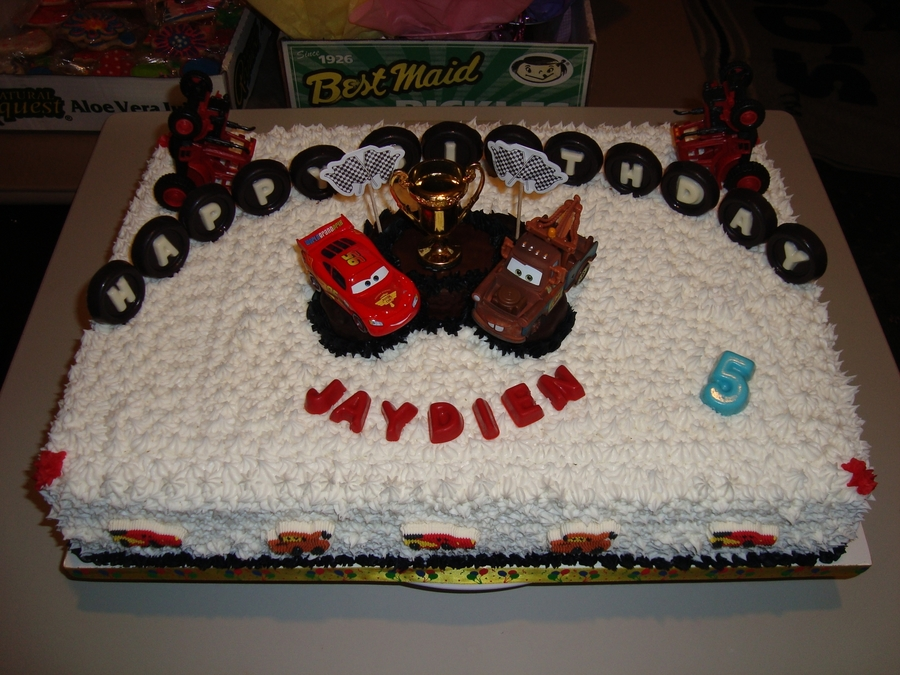 Cars Theme Birthday Cake Cakecentral Com