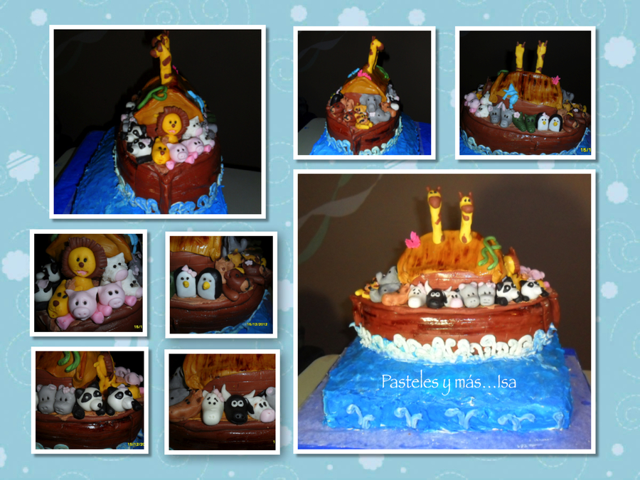 Noah S Arks Cake1 Level Pecan Vanilla Cake With Buttercream2 Level Pina Colada Cake With Fondant3 Level Strawberry With Fondant on Cake Central