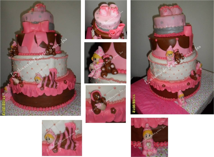 Baby Girl & Bear on Cake Central